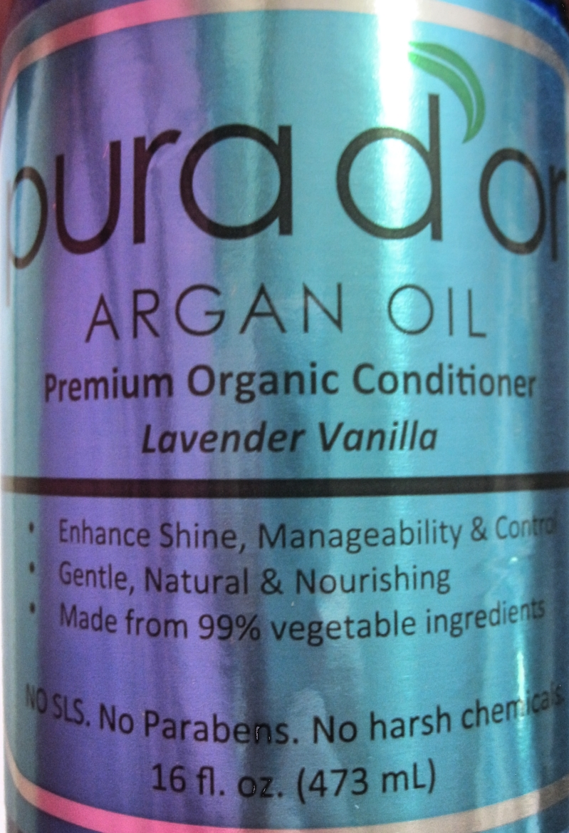Pura d'Or Premium Organic Conditioner label