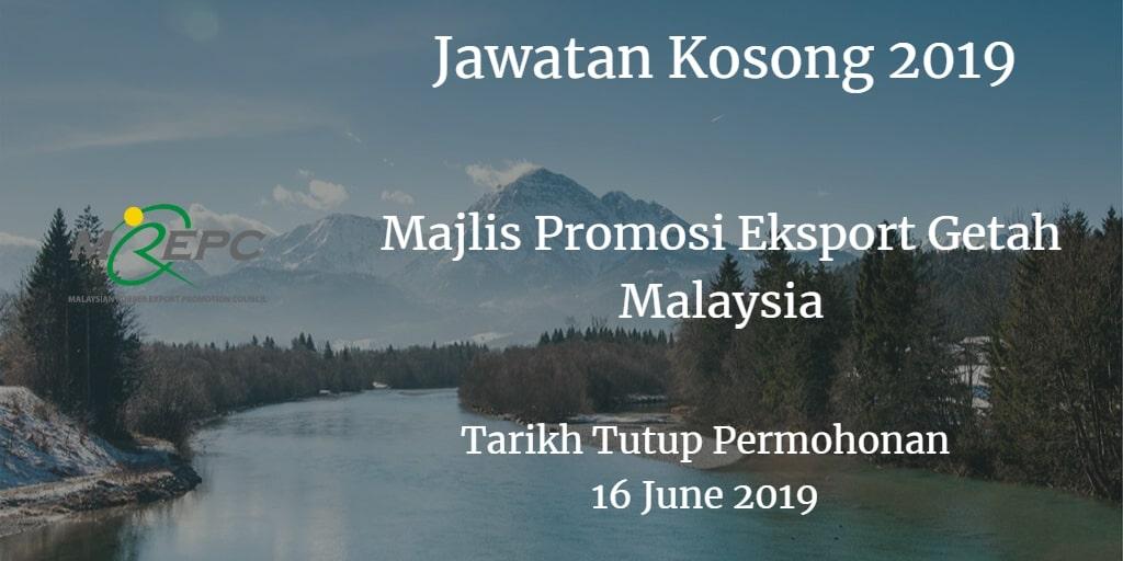 Jawatan Kosong MREPC 16 June 2019