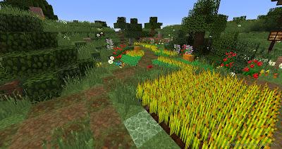 minecraft hobbiton main garden