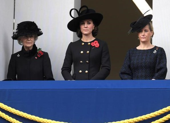 Queen, Duchess Camilla, Duchess of Cambridge, Countess of Wessex and Princess Alexandra. Kate Middleton