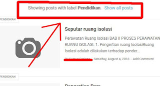 Hilangkan Tampilan Showing Posts With Label di Blogspot