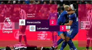 Newcastle United vs Leicester City 2-3 Video Gol Highlights