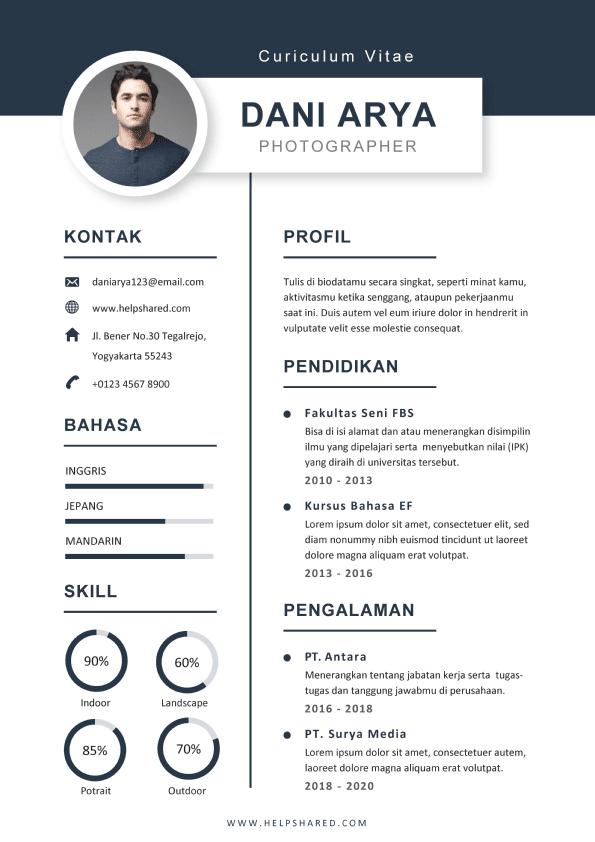Contoh CV Lamaran Kerja Simple Modern 02 Menarik Curriculum Vitae