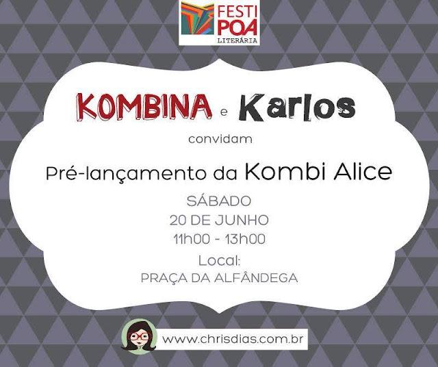 Evento da Kombina divulgado pelo FestiPoa Literária