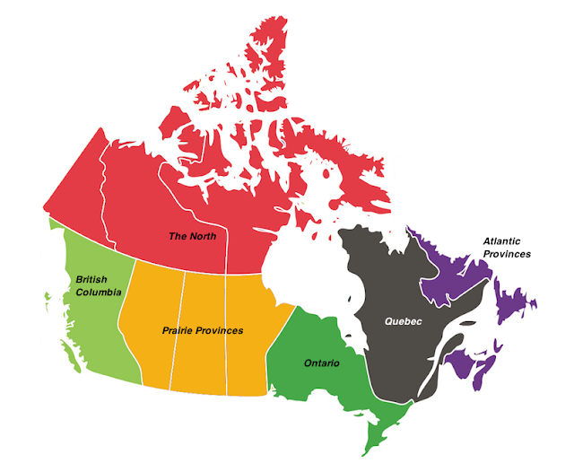 Canada Map With Provinces