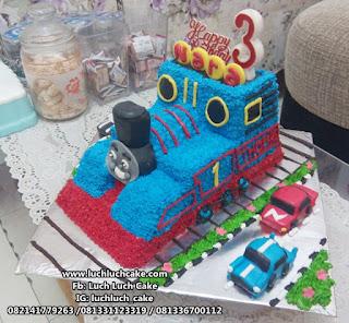 Kue 3d Bentuk Kereta Thomas Buttercream
