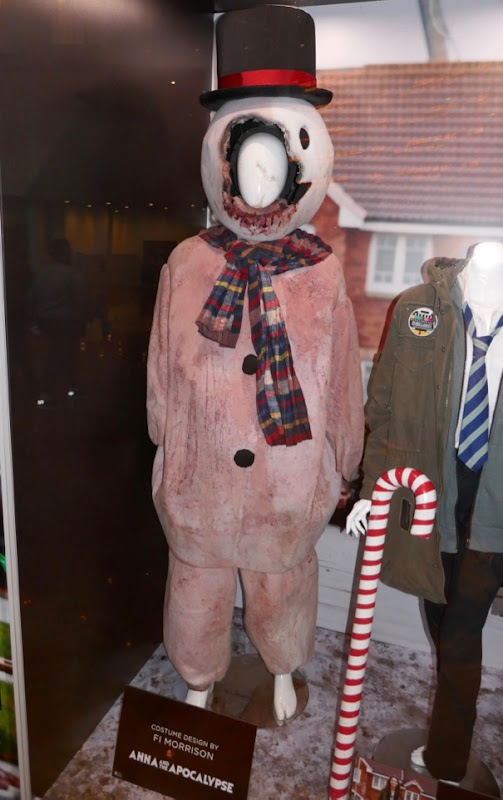 Anna and Apocalypse zombie snowman costume