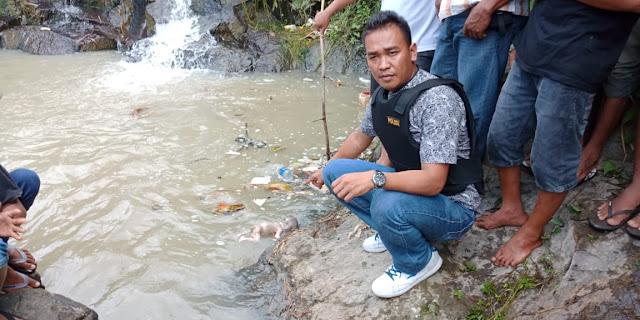 Lokasi penemuan mayat bayi di Tanjungpinggir Siantar