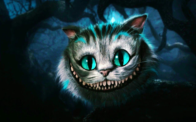 'Well! I've often seen a cat without a grin,' thought Alice; 'but a grin without a cat! It's the most curious thing I ever saw in all my life!'