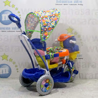 royal gajah sepeda roda tiga ayunan bayi