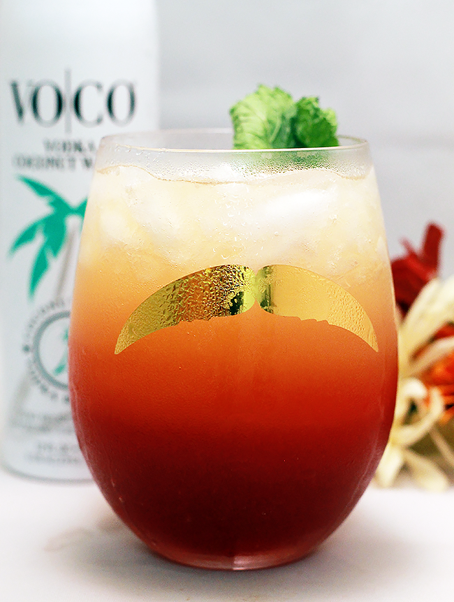 Tropical Autumn Punch with Coconut Water Vodka