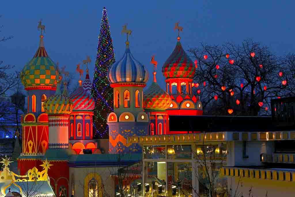 Miszapatosviajeros Navidad En Los Jardines Tivoli De Copenhague
