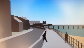 Simulated View of Possible Coastal Defences Broughty Ferry June 2016
