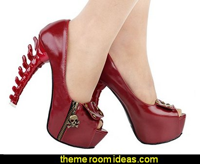 Girly Gothic Punk Fashion - gothic shoes - goth, rockabilly, emo and pinup designs - Unique Gothic punk style - Gothic Victorian - skulls - Gothic punk style clothing - goth jewels - Steampunk fashion