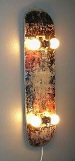 lampada con snowboard