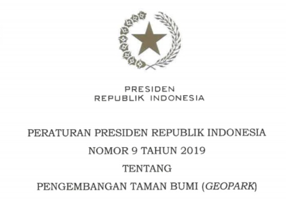 Peraturan Presiden Nomor 9 tahun 2019