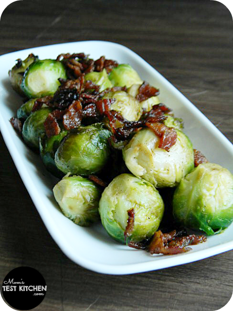 Mom's Test Kitchen: Brussels Sprouts with Bacon & Shallots