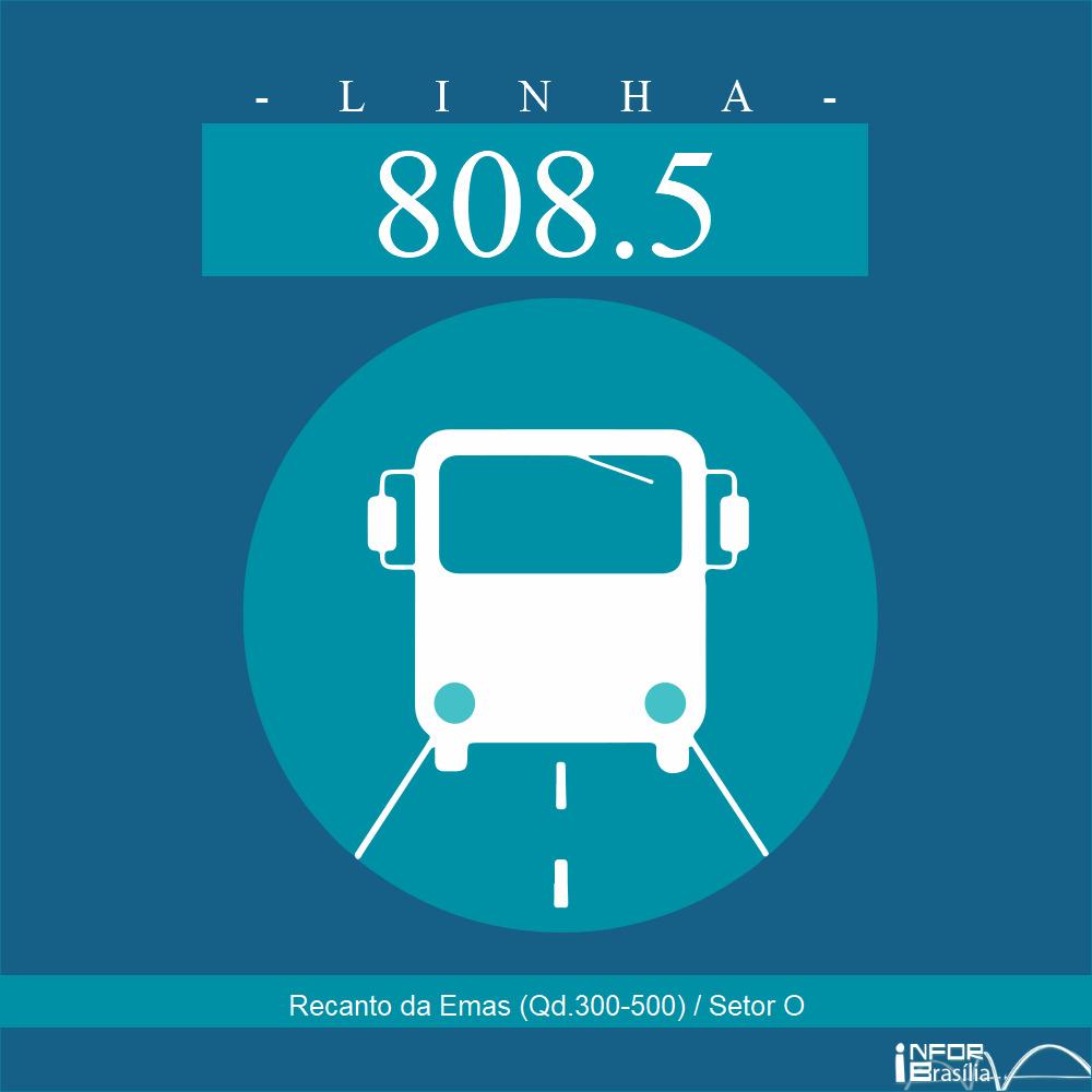 Horário de ônibus e itinerário 808.5 - Recanto da Emas (Qd.300-500) / Setor O