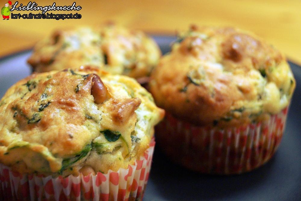 Spinat-Muffins mit Pinienkernen und Ricotta