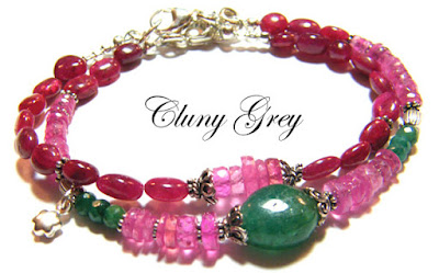 layered ruby bracelets