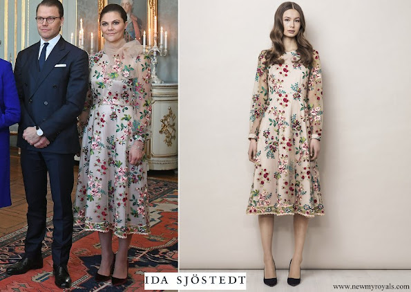 Crown Princess Victoria wore Ida Sjostedt Sabrina Multi Dress