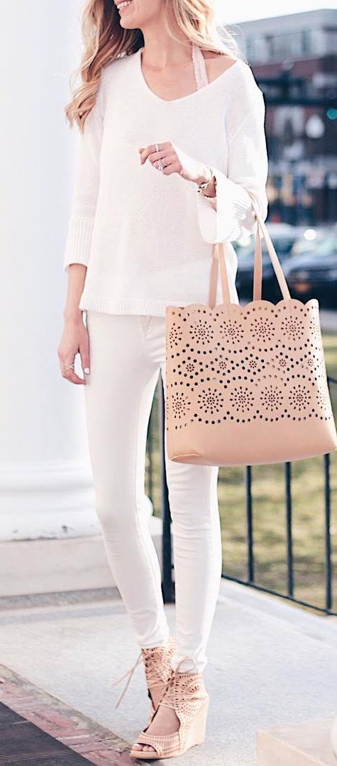 casual style inspiration: top + bag + pants