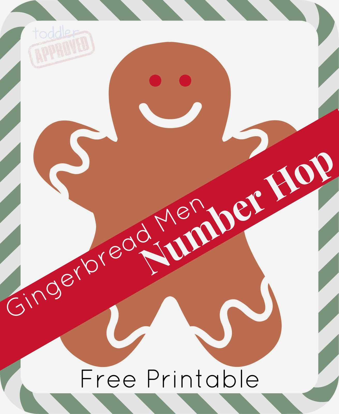 Toddler Approved Gingerbread Men Number Hop