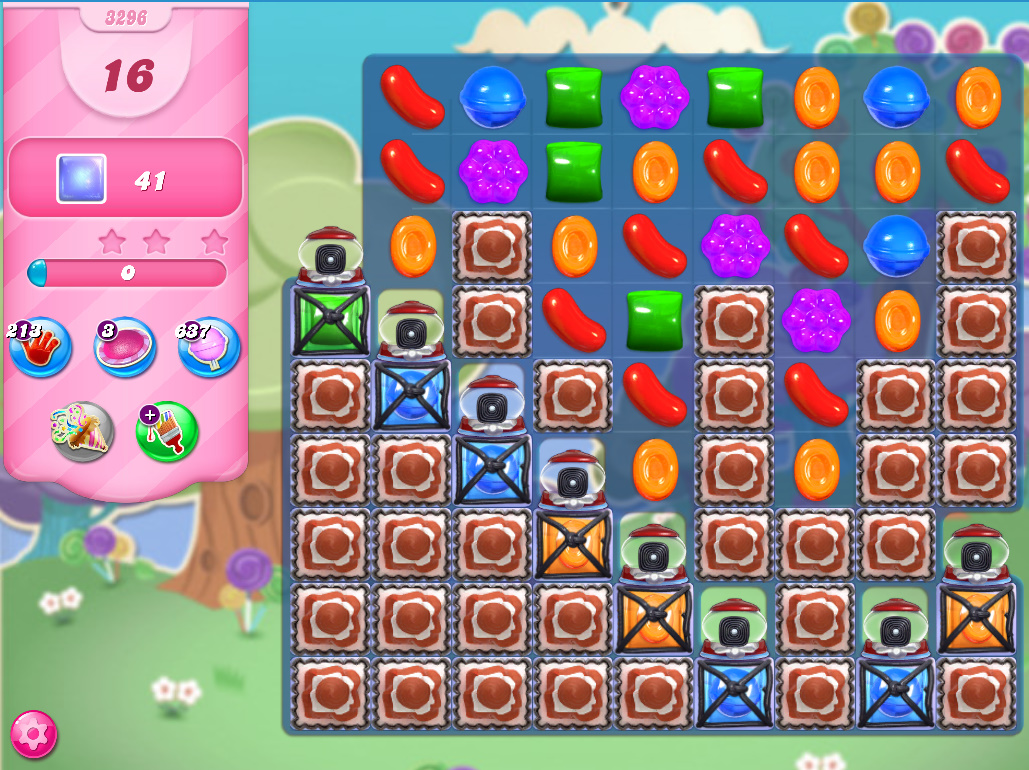 Candy Crush Saga level 3296
