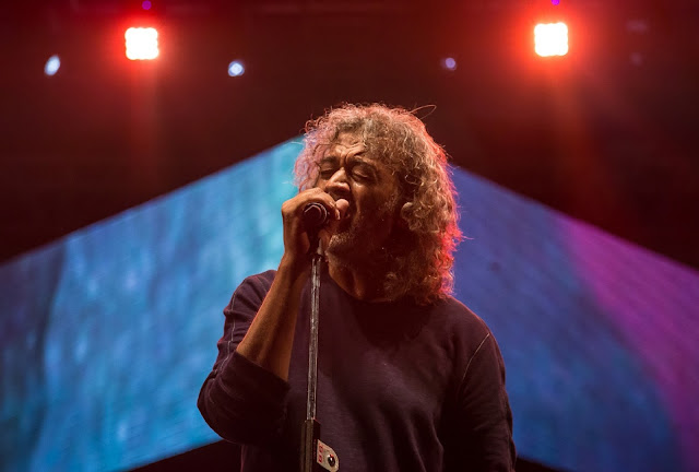 Lucky Ali performs at Rider's Music Festival on February 18, 2017 at Jawaharlal Nehru Stadium