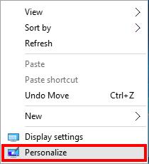 شرح بالصور طريقة اظهار رموز سطح المكتب في ويندوز 10