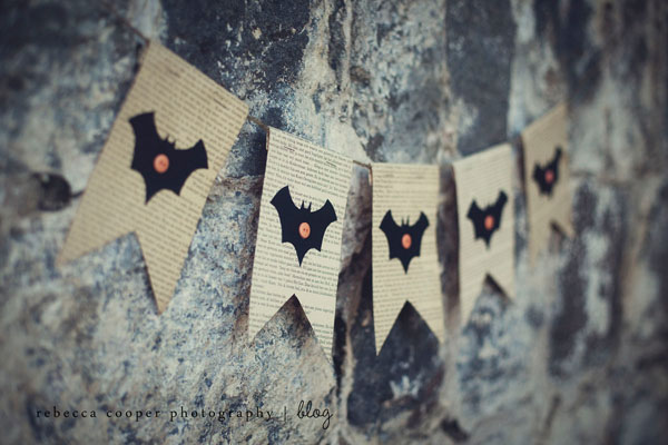 Spooky Halloween Book Page Crafts - Simple Halloween Bunting