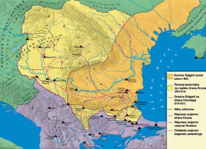 Дунайская Болгария  хана Аспаруха  и хана Курума (Крум)