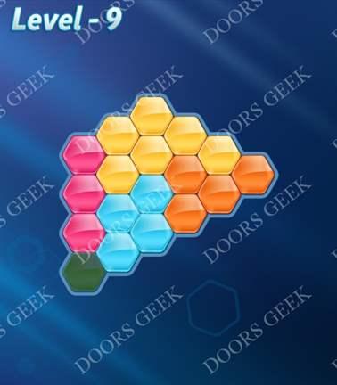 Block! Hexa Puzzle [5 Mania] Level 9 Solution, Cheats, Walkthrough for android, iphone, ipad, ipod