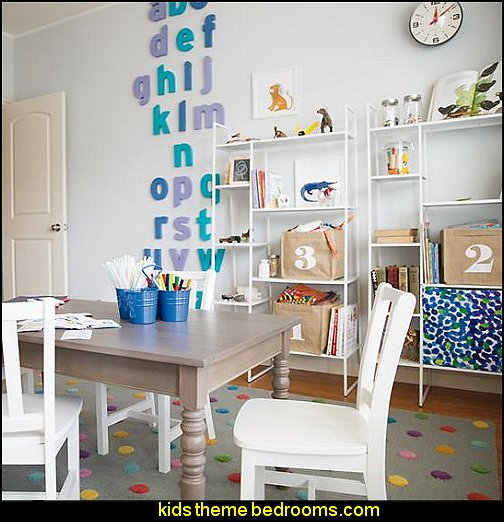 Wall Letters Decorations Fun Playroom Decorating Ideas