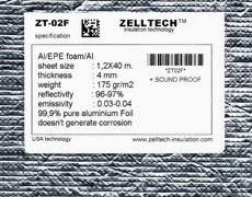 ZT-02F Al/EPE/Al