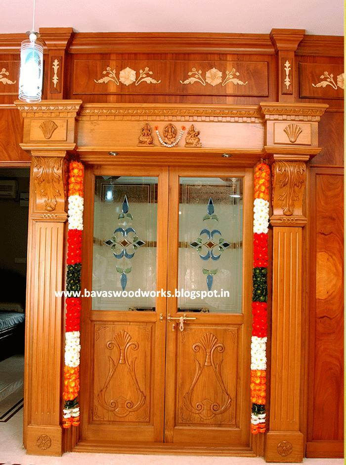 Pooja Room Door Designs Pooja Room: BAVAS WOOD WORKS: Pooja Room Wooden Designs And Some Ideas