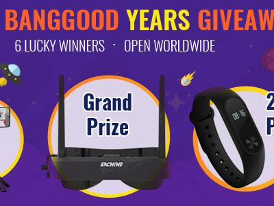 Eleven Banggood Years Giveaway: Win Amazing Prizes, Open Worldwide
