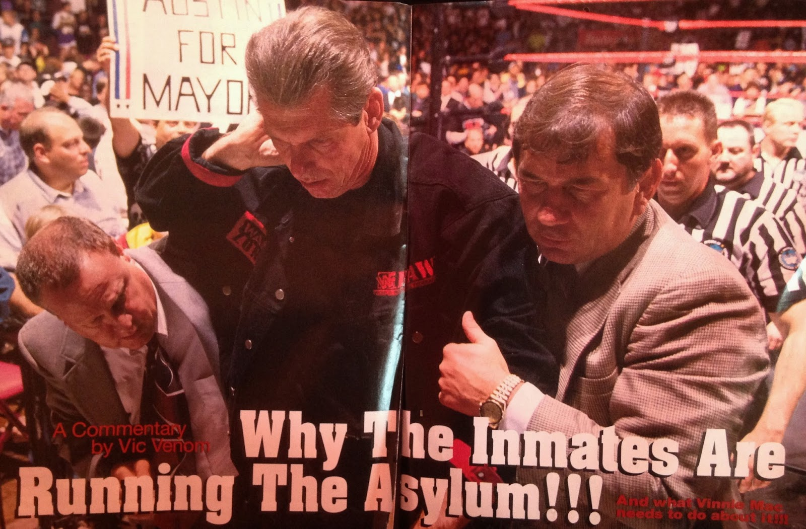 WWE: WWF RAW MAGAZINE - January 1998 - Why the inmates are running the asylum