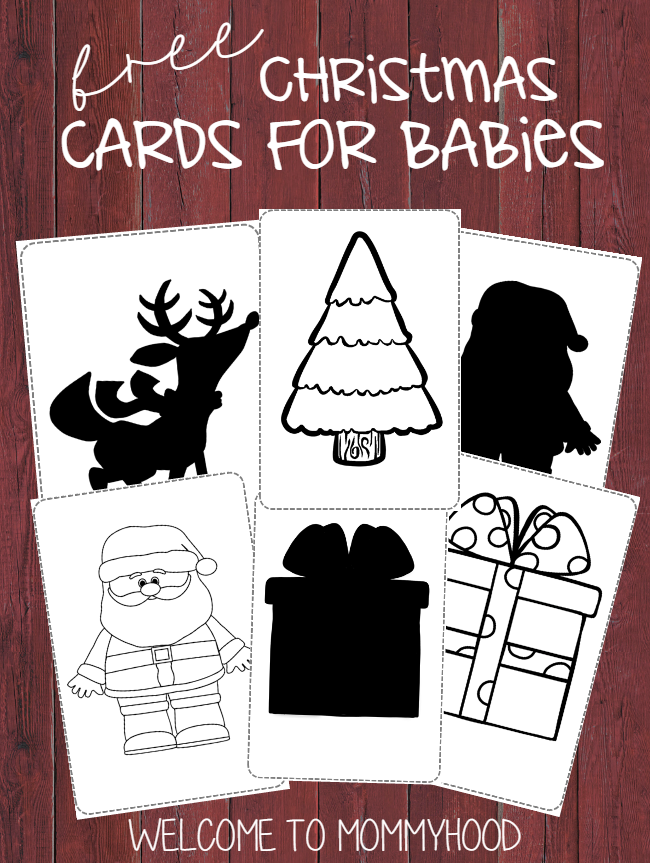 Infant activities: free Christmas image cards for newborns (Montessori inspired) by Welcome to Mommyhood #infantactivities, #activitiesforbabies, #freeprintables, #montessori, #christmasactivities