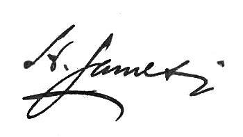 Autógrafo de Henry James