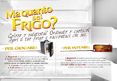Logo Nuovo concorso Grisbi ''Ma quanto sei frigo'': vinci forniture e mini frigo