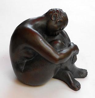 Jeune fille nue, assise