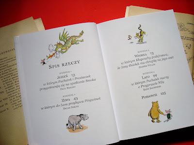 Nowe przygody Kubusia Puchatka, książka, Kubuś Puchatek, spis treści