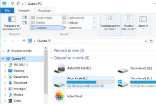 cambiare vista cartelle windows 10