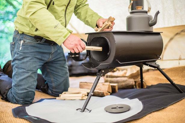 Frontier Plus, Kompor Portabel Berbahan Bakar Kayu Yang Dapat Dipasang Di Dalam Tenda