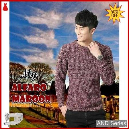 AND302 Sweater Pria Alfaro Merah Maroon BMGShop