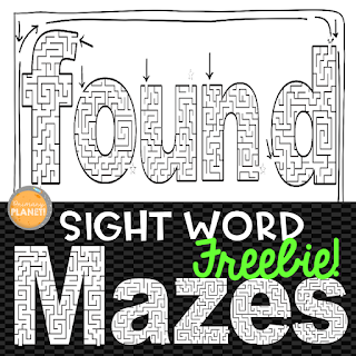 Practicing sight words using sight word mazes! Fun Freebie! These are a fun way for your kiddos to practice their sight words!