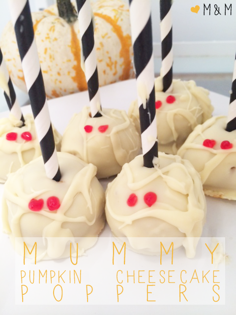 A Lettered Life: Mummy Pumpkin Cheesecake Poppers