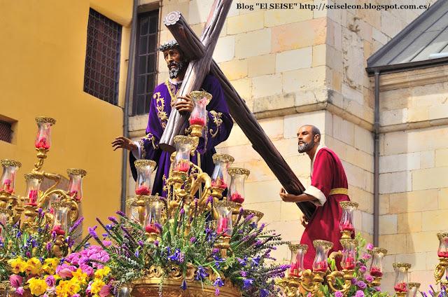 Paso de Nuestro Padre Jesús Nazareno. Cofradía del Dulce Nombre de Jesús Nazareno. León. Foto G. Márquez. 2015