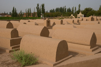 Graves at the Imin Minaret, Turpan, Xinjiang
